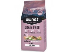 Ownat Grain Free Mini Lamb (le lot de 4 x 3kg soit 12kg)