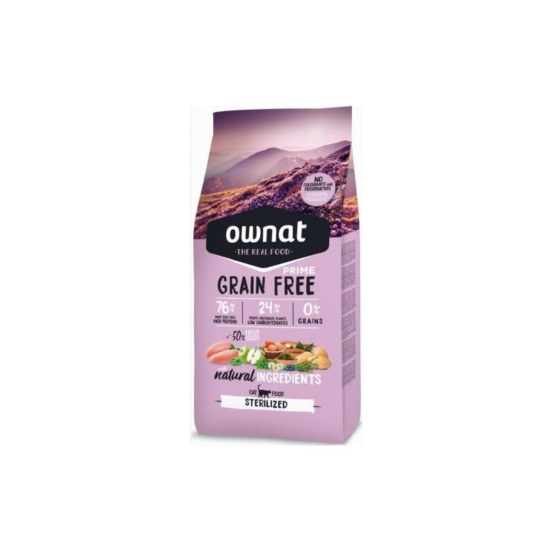 Ownat Chat Sterilized Grain Free (1 sac de 3kg ou de 8kg)